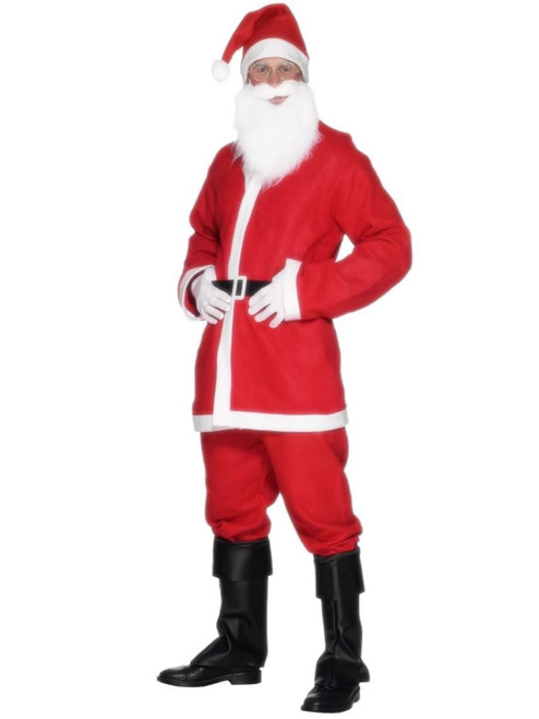 """44"""" Red and White Santa Suit Men Adult Christmas Costume - Large - IMAGE 1"""