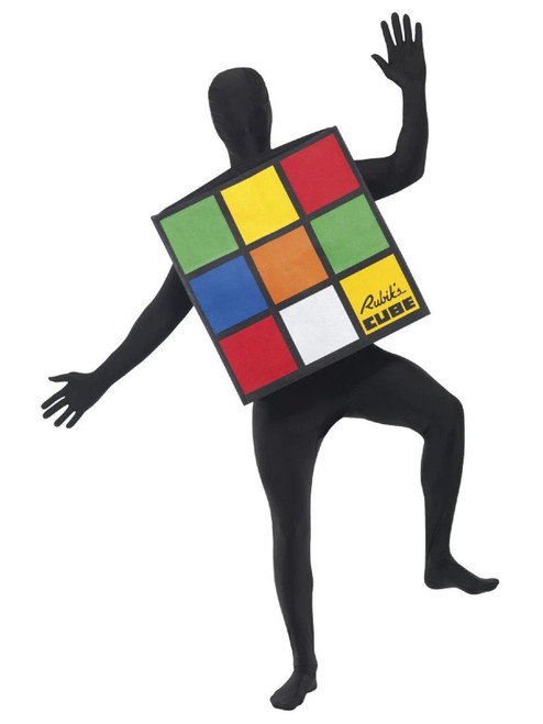 """49"""" Black and Red Rubik's Cube Unisex Adult Halloween Costume - One Size - IMAGE 1"""