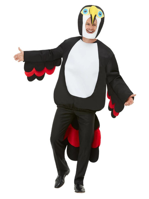 "49"" Black and White Bird of Paradise Toucan Unisex Adult Halloween Costume - One Size - IMAGE 1"