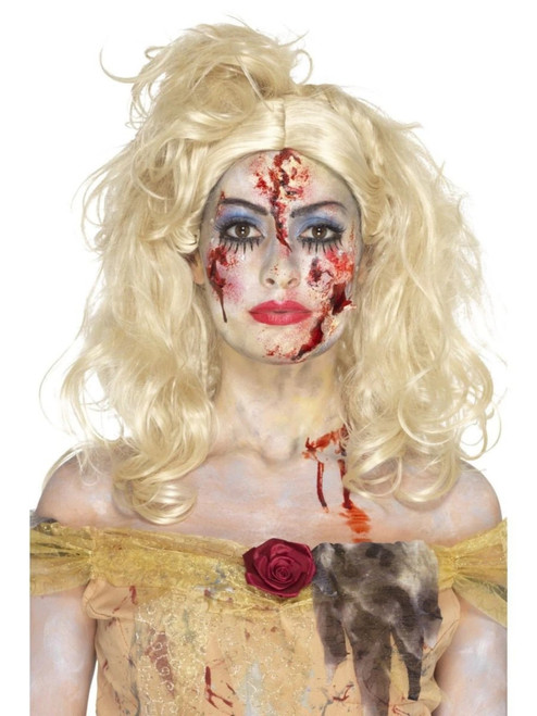 """39"""" Red and Beige Zombie Fairy Tale Women Make Up Kit Costume Accessory - One Size - IMAGE 1"""