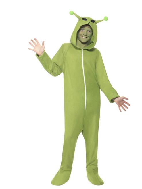 "44"" Black and Green Alien Unisex Adult Halloween Costume - Medium - IMAGE 1"