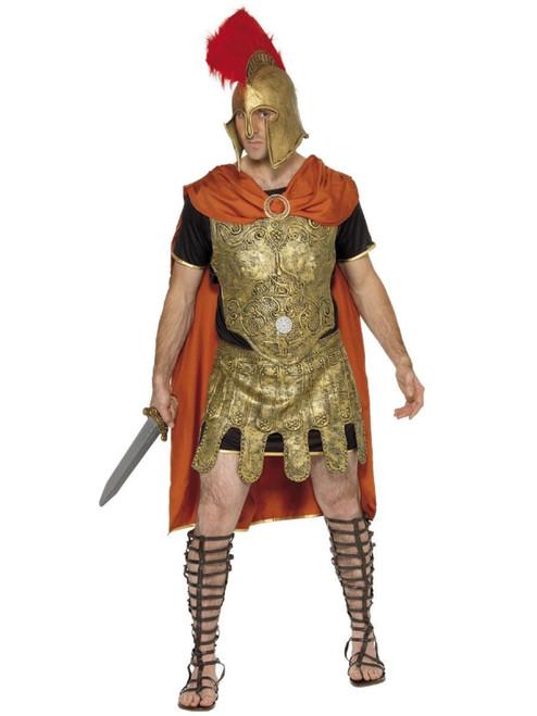 "41"" Gold and Orange Deluxe Roman Soldier Men Halloween Costume - Medium - IMAGE 1"