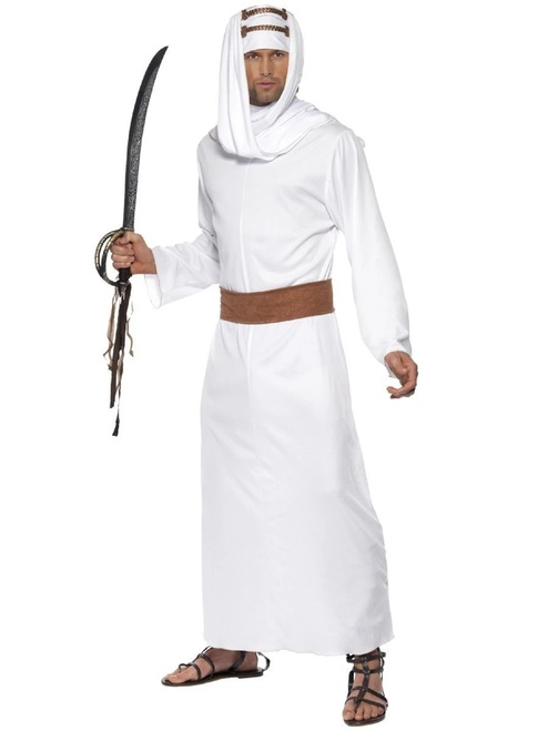 "49"" White and Brown Lawrence of Arabia Men Halloween Costume - Medium - IMAGE 1"