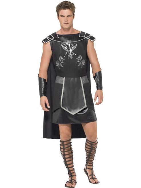 "41"" Black and White Men Adult Dark Gladiator Halloween Costume - Medium - IMAGE 1"