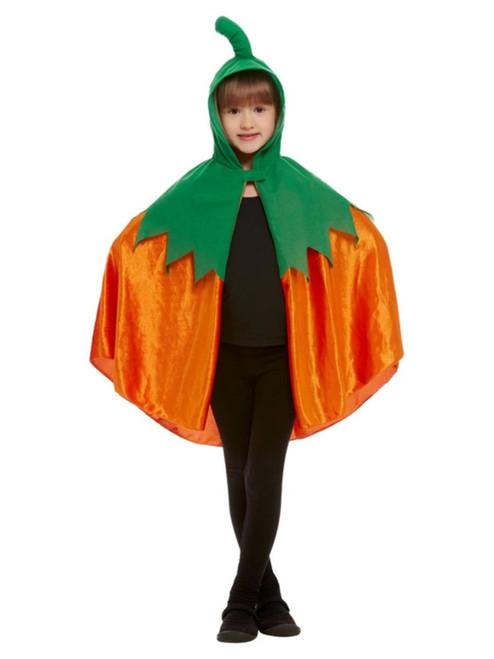 Orange and Green Unisex Child Halloween Cape Costume Accessory - One Size - IMAGE 1