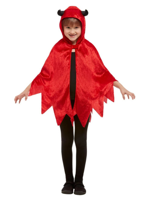 Red and Black Devil Unisex Child Halloween Cape Costume Accessory - One Size - IMAGE 1