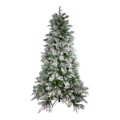 6.5' Full Flocked RoseMary Emerald Angel Pine Artificial Christmas Tree - Unlit - IMAGE 1