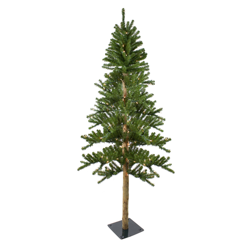 6' Pre-Lit Alpine Artificial Christmas Tree - Clear Lights - IMAGE 1