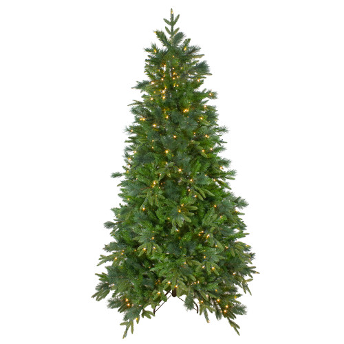 6.5' Pre-Lit Mixed Colorado Pine Artificial Christmas Tree - Warm White LED Lights - IMAGE 1