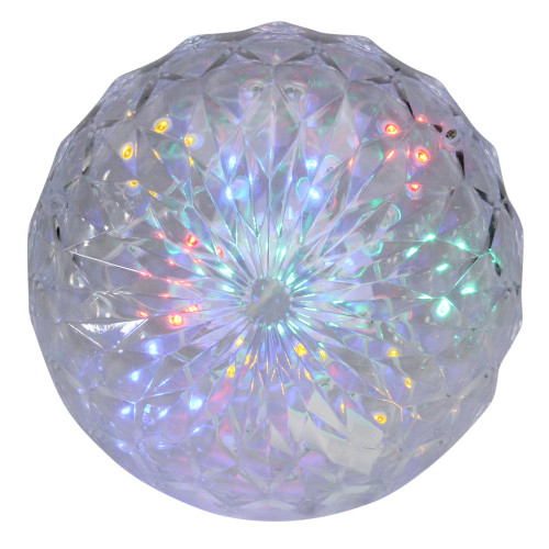 """6"""" LED Lighted Multi-Color Hanging Crystal Sphere Outdoor Christmas Decoration - IMAGE 1"""
