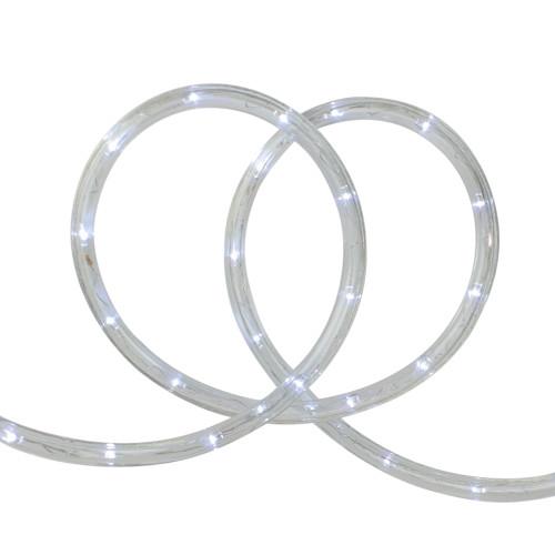 18' White LED Outdoor Christmas Decor Rope Lights - IMAGE 1