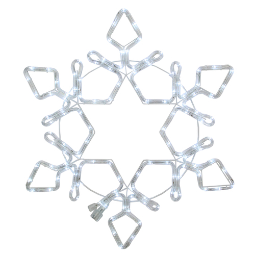 LED Rope Light Snowflake Commercial Christmas Decoration 48 Inch - IMAGE 1