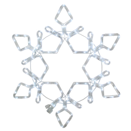 LED Rope Light Snowflake Commercial Christmas Decoration 24 Inch - IMAGE 1