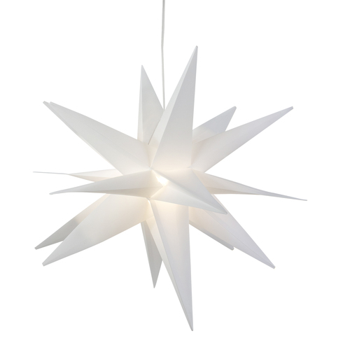 "22"" White LED Lighted Foldable Moravian Star Hanging Christmas Decoration - IMAGE 1"