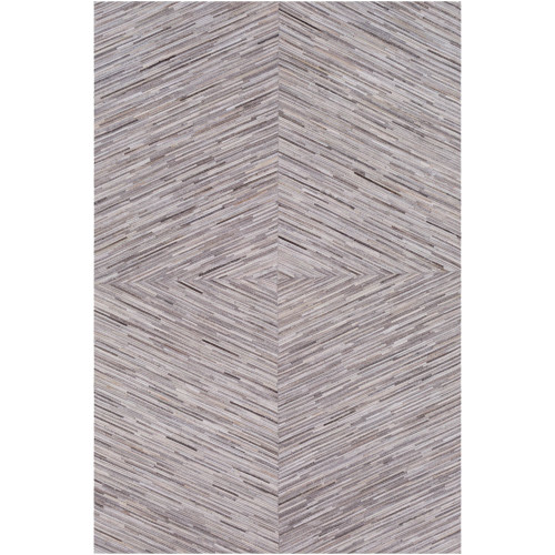 8' x 10' Contemporary Style Pale Brown and Beige Rectangular Area Throw Rug - IMAGE 1