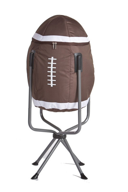 """39"""" Portable Fold-Up Standing Football Shaped Cooler for Parties & Tailgating - Holds up to 30 Cans - IMAGE 1"""