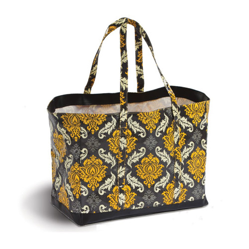 """19"""" Decorative Black and Yellow Eco-Friendly Reusable Tote Bag - IMAGE 1"""