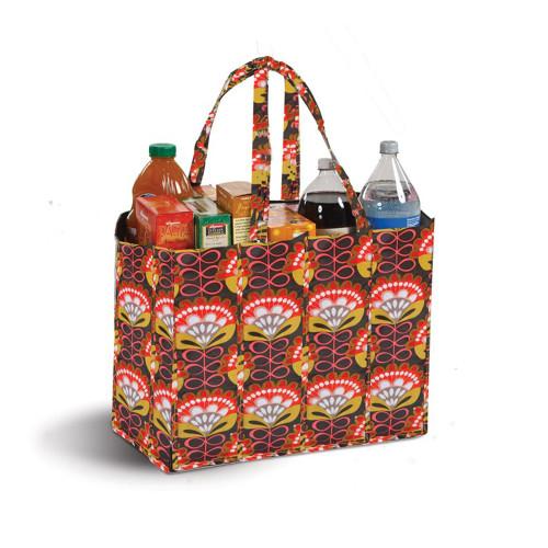 "19"" Decorative Orange and Brown Eco-Friendly Reusable Tote Bag - IMAGE 1"