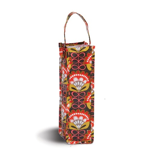 """Pack of 2 Brown & Orange Eco-Friendly ReuPack of 2 Brown & Orange Canvas Eco-Friendly Reusable Wine Bottle and Gift Tote Bag 14"""" - IMAGE 1"""