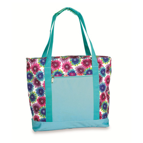 """17"""" Flower Power Blue Blossom 2 in 1 Insulated Cooler Bag - IMAGE 1"""