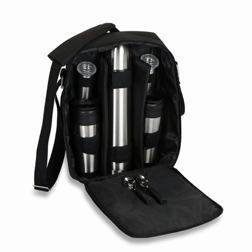"""14"""" Black Take-a-Long Shoulder Bag Coffee Set for 2 with Accessories - IMAGE 1"""