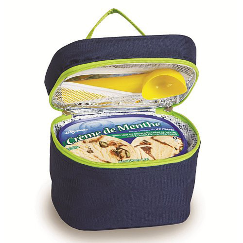 """Pack of 2 Fully Insulated Ice Cream Travel Coolers - Navy 7.5"""" - IMAGE 1"""