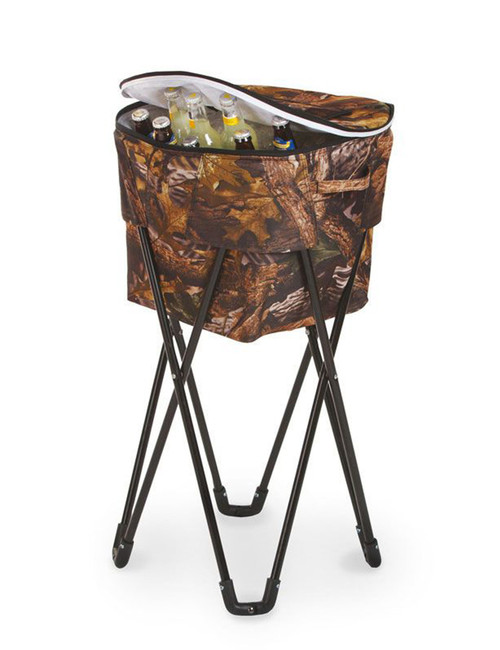 Portable Fold-Up Standing Cooler For Picnics & Tailgating - 72 Cans - Camouflage - IMAGE 1