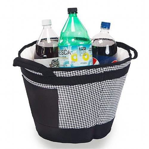 Pack of 2 Insulated Table Top Tub Coolers Holds 18 Cans - Houndstooth - IMAGE 1