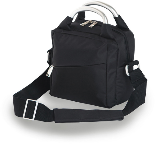 """Pack of 2 Classic Black Fully Insulated Lunch Box Totes 9"""" - IMAGE 1"""
