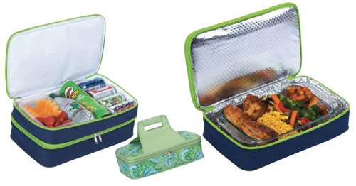 """18"""" Green Expandable Hot and Cold Food Carrier - IMAGE 1"""