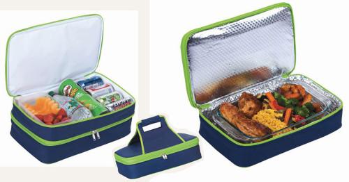 """18"""" Blue and Green Expandable Hot and Cold Food Carrier - IMAGE 1"""