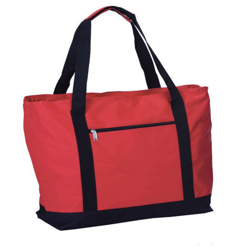 """24"""" Red Beach Cooler Bag With Picnic Accessories - IMAGE 1"""