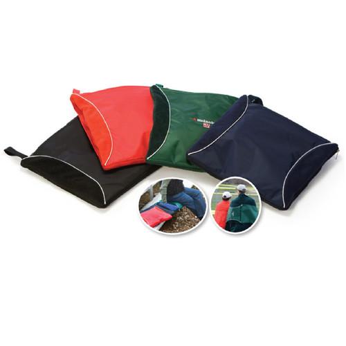 "2-in-1 Black Convenient Fleece Blanket Seat Cushion 40"" x 60"" - IMAGE 1"