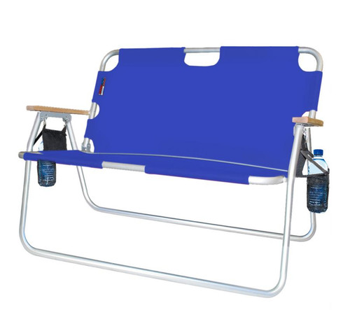 """44"""" Royal Blue Tailgater Two Person Folding Chair - IMAGE 1"""