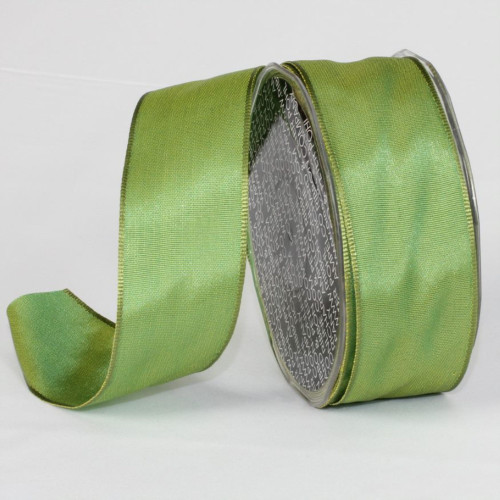 """Sea Mist Green Solid Wired Craft Ribbon 1.5"""" x 27 Yards - IMAGE 1"""