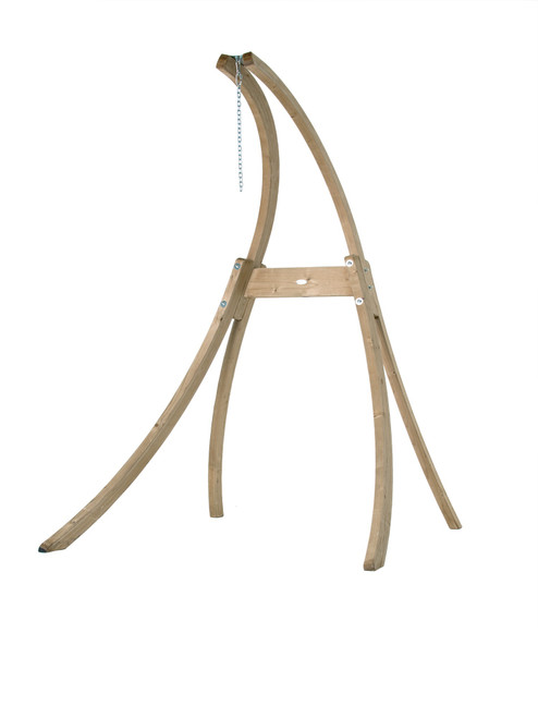 """93"""" Free-Standing Outdoor Wooden Atlas Hanging Chair Stand - IMAGE 1"""