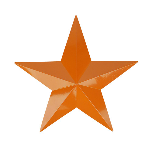 """36"""" Burnt Orange Country Rustic Star Outdoor Patio Wall Decoration - IMAGE 1"""