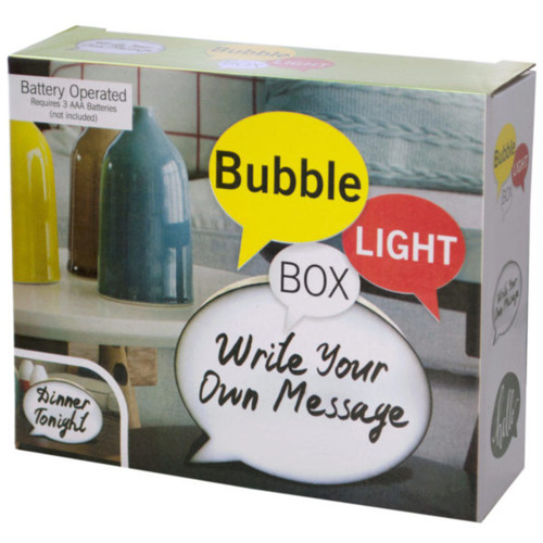 """Pack of 4 White Mini Bubble Light Box Message Boards with Markers 5.75"""" - IMAGE 1"""