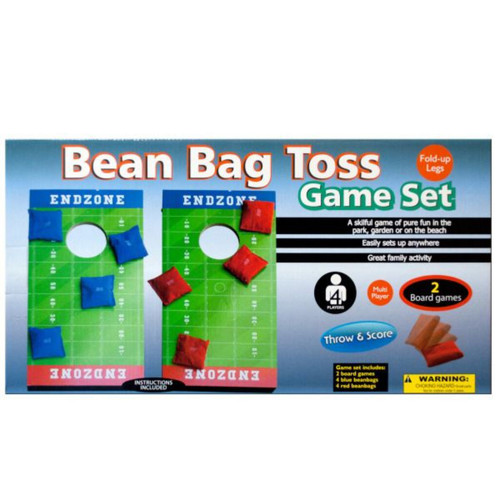 """20.25"""" Green and White Toss n' Score Bean Bag Toss 8-Piece Game Set - IMAGE 1"""