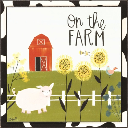 """10"""" Vibrantly Colored """"On The Farm"""" Themed Wall Plaque - IMAGE 1"""