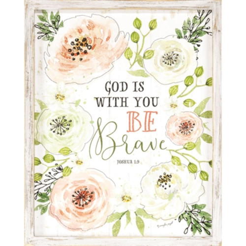 """12"""" White and Green Religious Themed Floral Finished Wall Plaque - IMAGE 1"""