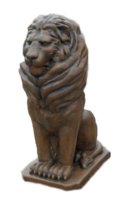 "Set of 2 Lion Eagle Entryway Outdoor Garden Statue 48"" - IMAGE 1"