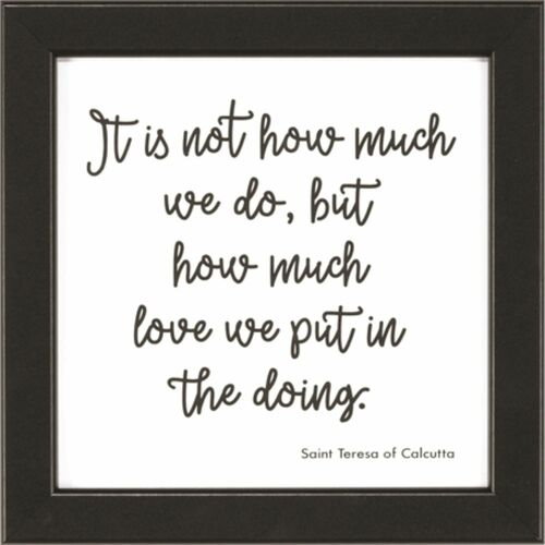 """8"""" White and Black Nurse Quote Printed Square Wall Plaque - IMAGE 1"""