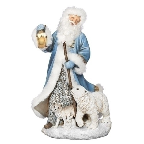 "10.5"" LED Santa with Polar Animals Battery Operated Christmas Figurine - IMAGE 1"