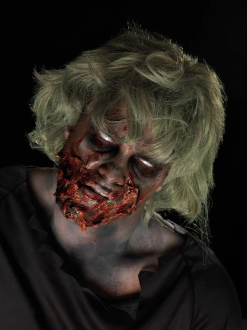 """29"""" Red and Black Zombie Powder Dirt Unisex Adult Halloween Make-Up Kit Costume Accessory - IMAGE 1"""