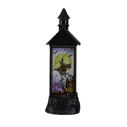 "12"" Battery Operated Halloween LED Witch House With Glitter - IMAGE 1"