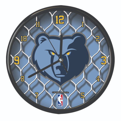"11.5"" Blue and White NBA Memphis Grizzlies Net Wall Clock - IMAGE 1"
