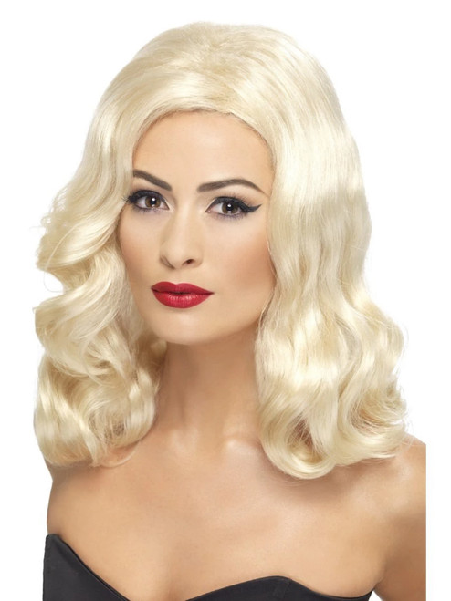 """26"""" Blonde 1920's Style Luscious Long Hair Women Adult Halloween Wig Costume Accessory - One Size - IMAGE 1"""
