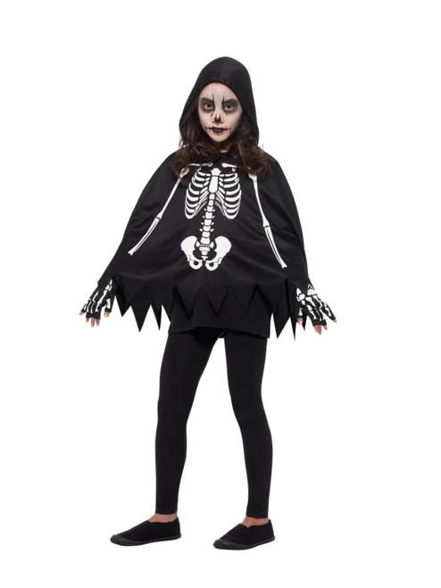 """40"""" Black and White Skeleton Unisex Child Halloween Costume - One Size - IMAGE 1"""