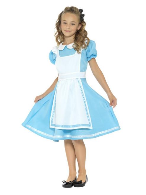 "48"" Blue and White Wonderland Princess Girl Tween Halloween Costume - IMAGE 1"